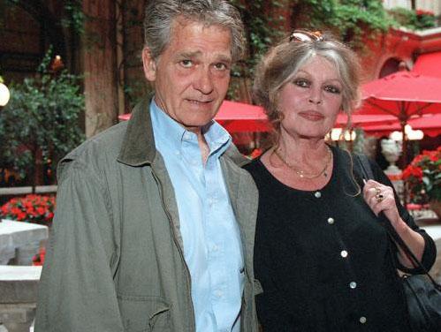 Brigitte Bardot with beautiful, Husband Bernard d