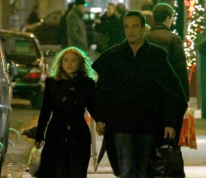 EXCLUSIVE: Mary Kate Olsen and her boyfriend, Olivier Sarkozy are seen arm-in-arm in Paris